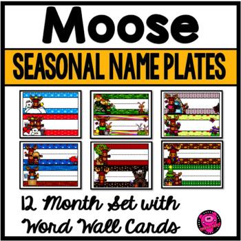 Name Tags Moose Theme