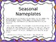 Seasonal Nameplates