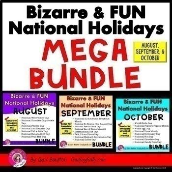 Seasonal National Holiday MEGA BUNDLE (August, September &