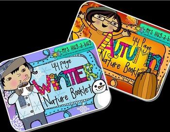 Seasonal Nature Booklet BUNDLE {Autumn/Fall, Winter, Spring, Summer}