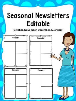 Seasonal News Letters -Editable