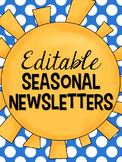 Seasonal Newsletter Templates {editable}