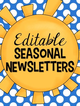Seasonal Newsletter Templates {editable}