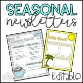 Seasonal Newsletters (Editable)