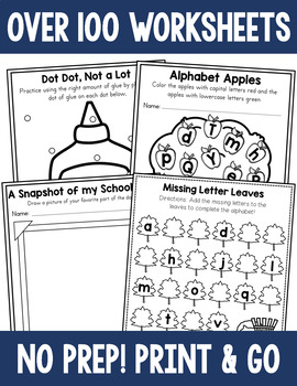Seasonal No Prep Worksheet Bundle - Math and Literacy