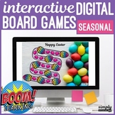 Seasonal No Print Boom Card Board Games for Speech Teletherapy (MAC IPAD & PC)