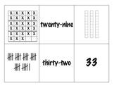 Seasonal Number Bingo w/ Base-10 Blocks, 10 Frames, # Words, & Tallies