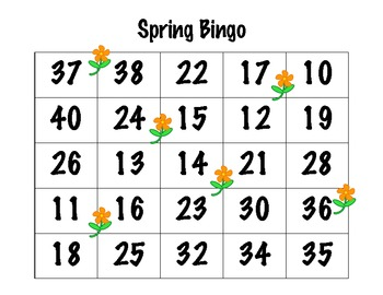 Seasonal Number Bingo w/ Base-10 Blocks, 10 Frames, # Words, & Tallies