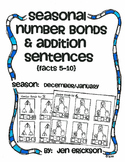 Seasonal Number Bonds and Addition Sentences:  DECEMBER/JANUARY