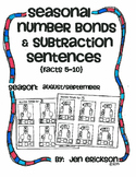 Seasonal Number Bonds and Subtraction Sentences:  AUGUST/SEPTEMBER