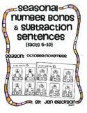 Seasonal Number Bonds and Subtraction Sentences: OCTOBER/NOVEMBER