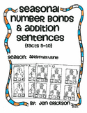 Seasonal Number Bonds and Addition Sentences:  APRIL/MAY/JUNE