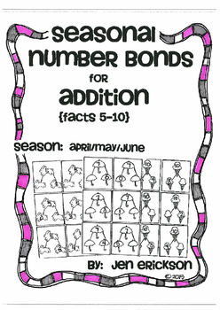 Seasonal Number Bonds for Addition (5-10):  APRIL/MAY/JUNE