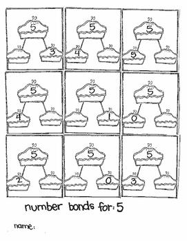 Seasonal Number Bonds for Addition:  OCTOBER/NOVEMBER