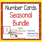 Seasonal Number Cards 1-120 - Holiday Flashcards