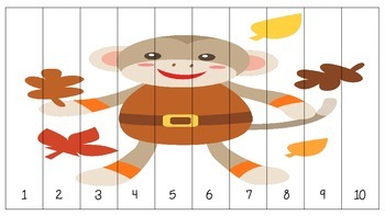 Seasonal Number Order Puzzle- Count by 1, 2, 5, 10