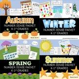Seasonal Number Sense Packets for K and 1st Grades Bundle