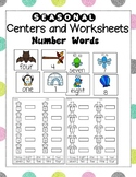 Seasonal Number Word Centers and Worksheets