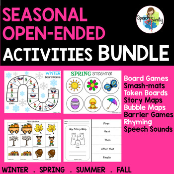 Seasonal Open-Ended Activities BUNDLE for Speech & Language Therapy