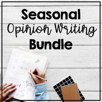 Seasonal Opinion Writing Bundle