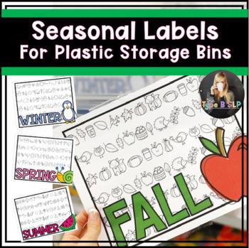 Seasonal Organizers for Plastic Storage Bins