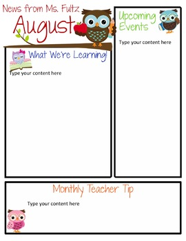 original-367468-2 October Pre Newsletter Template Editable on downloadable digital, for student, google free, elementary school, free community, december classroom, owl classroom, monthly classroom, free energy, parent weekly,