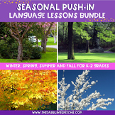 Seasonal PUSH-IN Language Lesson Plan Guides BUNDLE