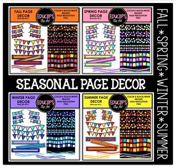Seasonal Page Decor Clip Art Bundle {Educlips Clipart}