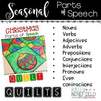 Parts of Speech Review Seasonal Quilt Bundle