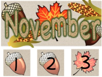 Seasonal Patterned Calendar Pieces