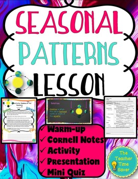 Seasonal Patterns Lesson (PowerPoint, notes, and activity)