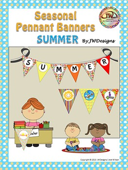 SUMMER Bunting - Pennants - Banners