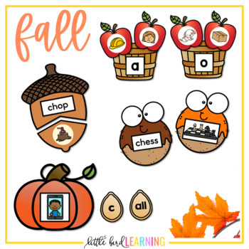 Seasonal Phonics Games and Centers BUNDLE - Level 1