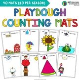 Seasonal Playdough Counting Mats