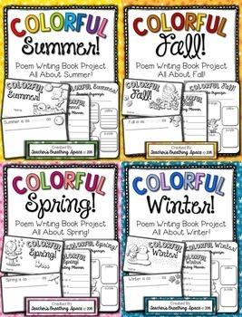 Seasonal Poem Writing -- Colorful Seasons Poetry Books -- Writing About Seasons
