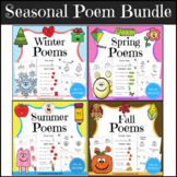Seasonal Poem and Mini Book Bundle (with QR code Videos)