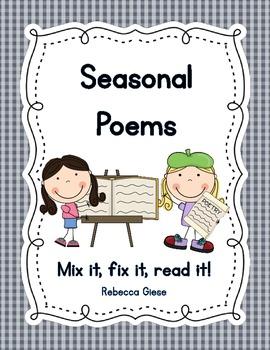 Seasonal Poems {Mix it, fix it, read it!}