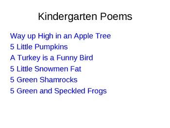 Seasonal Poems Powerpoint
