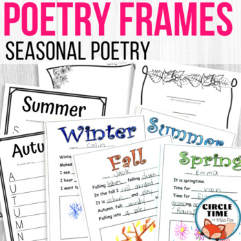 Seasons Poetry Teaching Resources | Teachers Pay Teachers