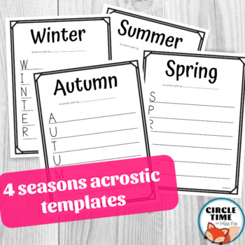 Poetry Frames, Seasonal Poems, Poetry Writing Templates, Fill in the Blank Poems