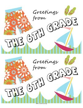 Seasonal Postcard Templates - 6th grade!