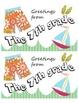 Seasonal Postcard Templates - 7th grade