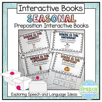Preposition Interactive Books: Seasonal