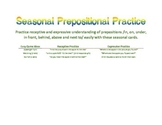 Seasonal Preposition Practice
