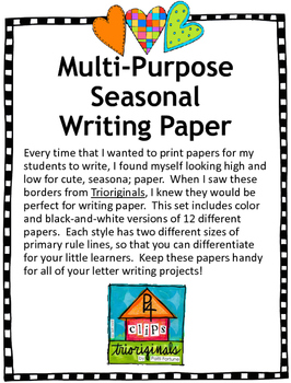Seasonal Primary Writing Papers