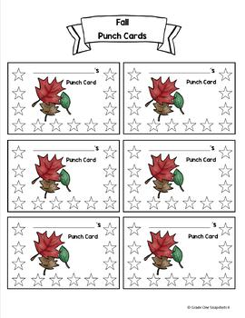 Seasonal Punch Cards ~Freebie~