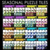 Seasonal Puzzle Tile Bundle {Progression Clipart}