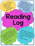 Seasonal Reading Log- EDITABLE