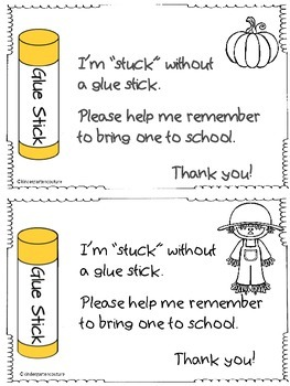 Seasonal Reminder -Glue Stick -FREEBIE
