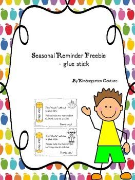 Seasonal Reminder -Glue Stick -FREEBIE